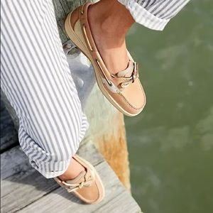Sperry Top Sider Angel Fish Gold Sz 7